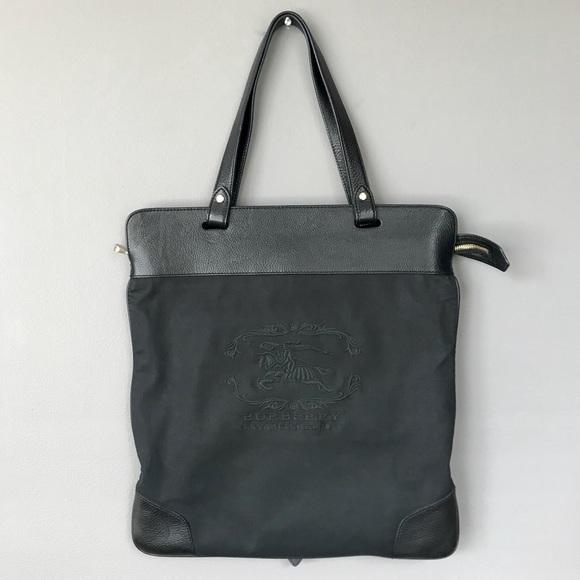 5b6f3dda50c4 Burberry Handbags - Burberry Prorsum Canvas   Leather Flat Tote Bag